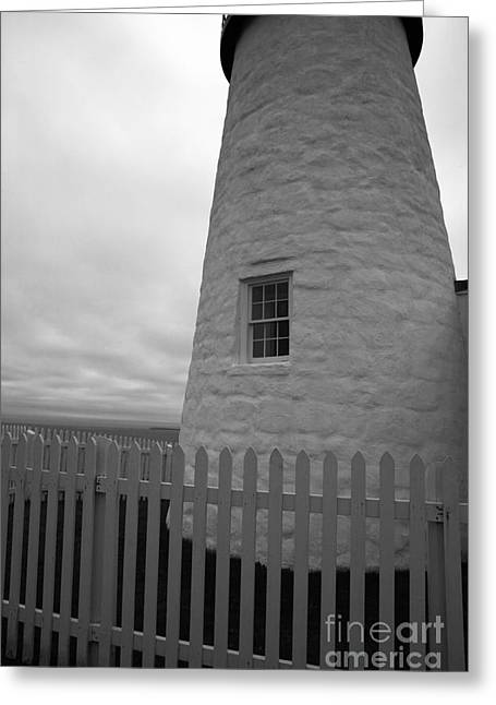 Pemaquid Lighthouse Greeting Cards - The Window Greeting Card by Timothy Johnson