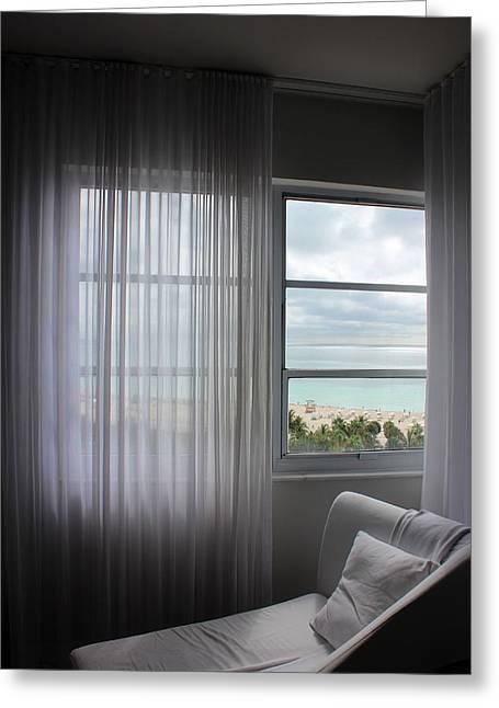 The Window's View Greeting Card by Mesa Teresita