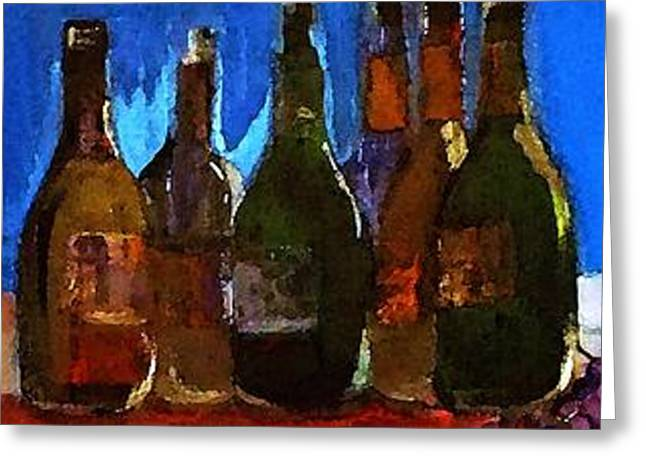 Jugs Greeting Cards - The Wine Happy Hour Greeting Card by Lisa Kaiser
