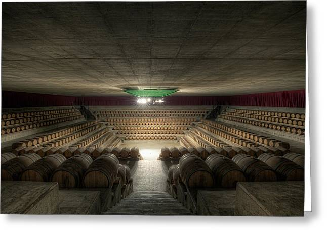 Cellar Greeting Cards - The Wine Temple Greeting Card by Marco Romani