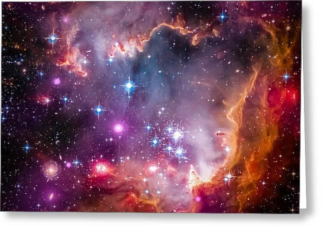 Magellanic Greeting Cards - The Wing Of The Small Magellanic Cloud Greeting Card by Marco Oliveira