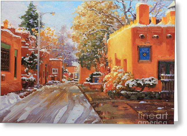 The Winter Beauty Of Santa Fe Greeting Card by Gary Kim