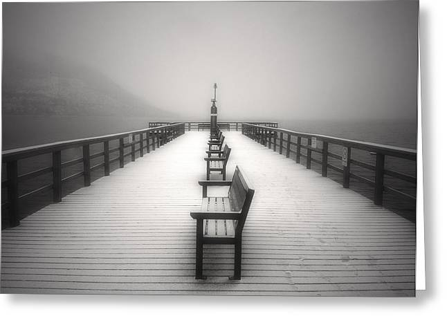 Okanagan Greeting Cards - The Winter Pier Greeting Card by Tara Turner