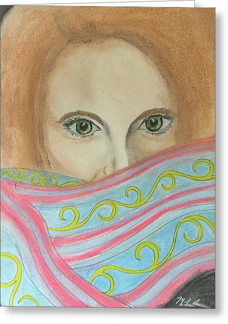 Scarf Pastels Greeting Cards - The Wish Greeting Card by Mary Lynn Smith