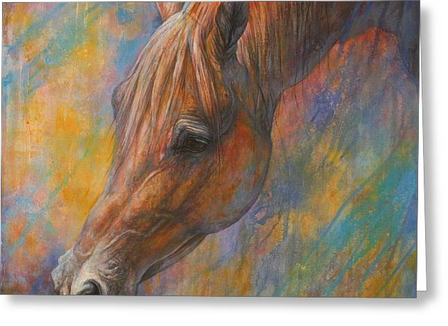 Brown Horse Greeting Cards - The Wish Greeting Card by Silvana Gabudean