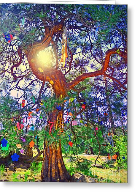 Okanagan Valley Greeting Cards - The Wish Tree Greeting Card by Tara Turner