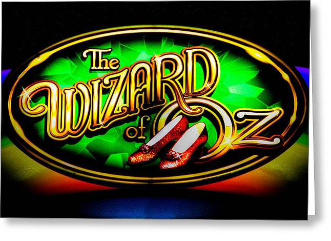 David Patterson Greeting Cards - The Wizard of Oz Casino Sign Greeting Card by David Patterson