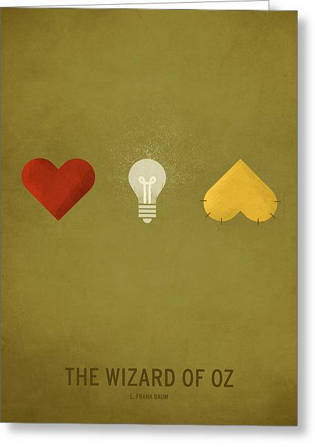 Minimalist Greeting Cards - The Wizard of Oz Greeting Card by Christian Jackson