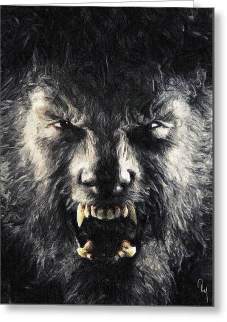 Hairy Wolf Greeting Cards - The Wolfman Greeting Card by Taylan Soyturk