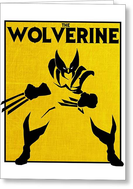 The Wolverine Greeting Card by Kyle West