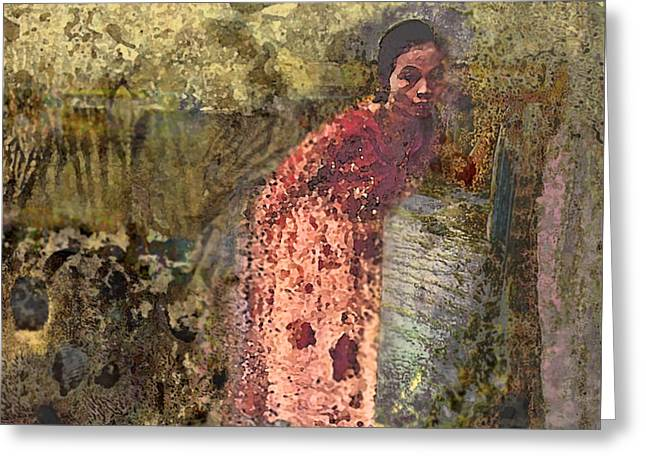 Layer Greeting Cards - The Woman at His Tomb Greeting Card by Kate  Word