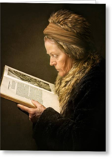 Rembrandt Greeting Cards - The Woman Reading Greeting Card by Anita Meezen