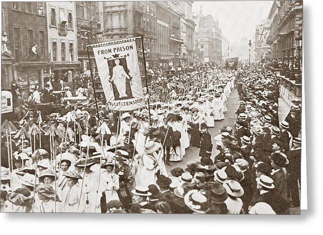 Women Suffrage Greeting Cards - The Women S Franchise Demonstration Greeting Card by Ken Welsh