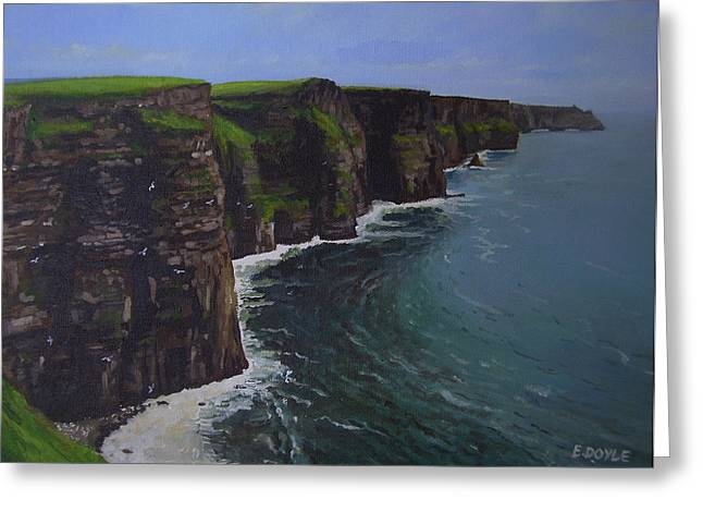 Clare Greeting Cards - The Wonderful Cliffs Of Moher Greeting Card by Eamon Doyle