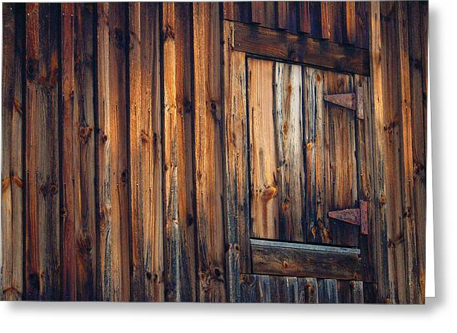 Barn Door Digital Greeting Cards - The Wonders of Wood Greeting Card by Ross Powell