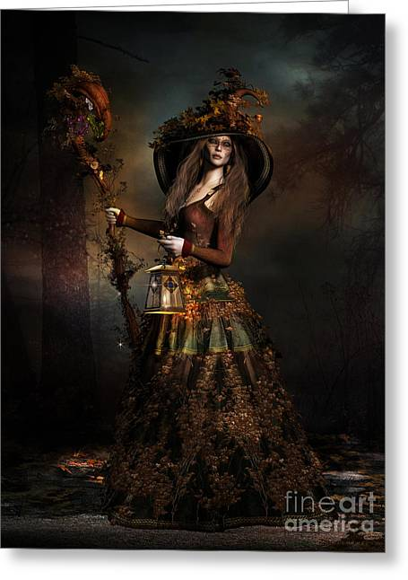 The Wood Witch Greeting Card by Shanina Conway