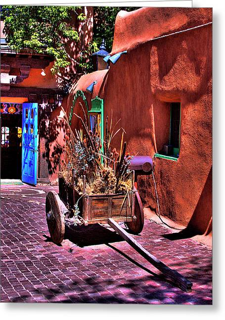 The Wooden Cart Greeting Card by David Patterson