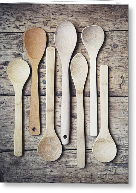 Modern Photographs Greeting Cards - The Wooden Spoons Greeting Card by Lisa Russo