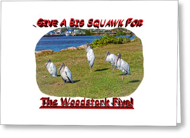 Harmonize Greeting Cards - The Woodstork Five Greeting Card by John Bailey
