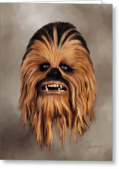 The Wookiee Greeting Card by Michael Greenaway
