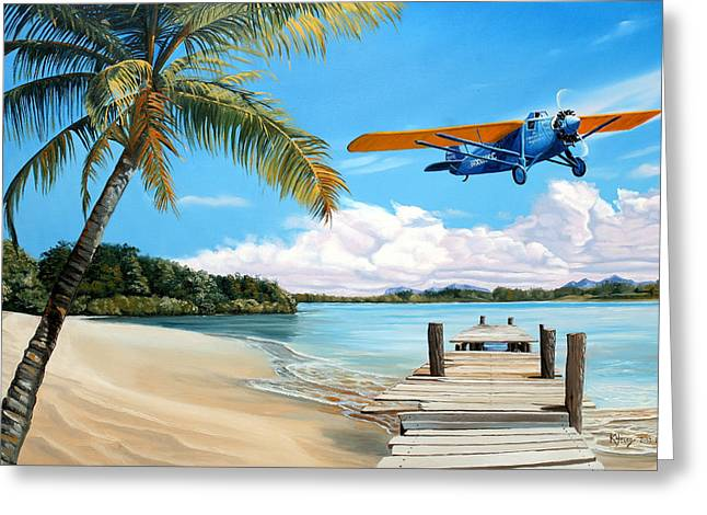 Aircraft Greeting Cards - The Woolaroc Greeting Card by Kenneth Young