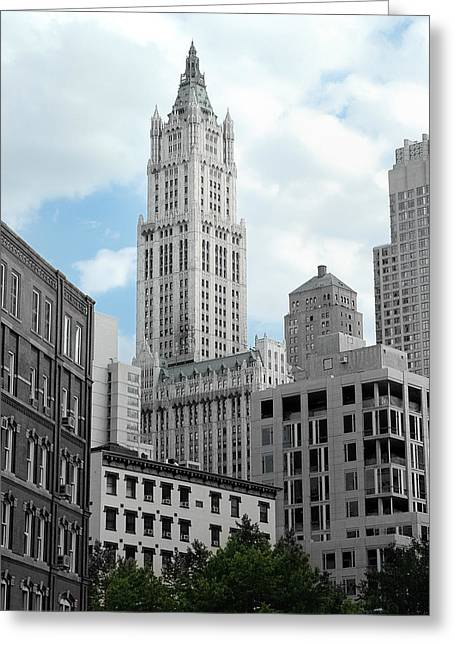 The Woolworth Building - Nyc Greeting Card by Frank Mari
