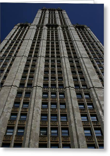 The Woolworth Building Greeting Card by Christopher Kirby