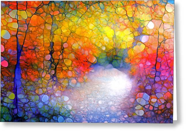 Forest Floor Digital Art Greeting Cards - The World is Like a Window Greeting Card by Tara Turner