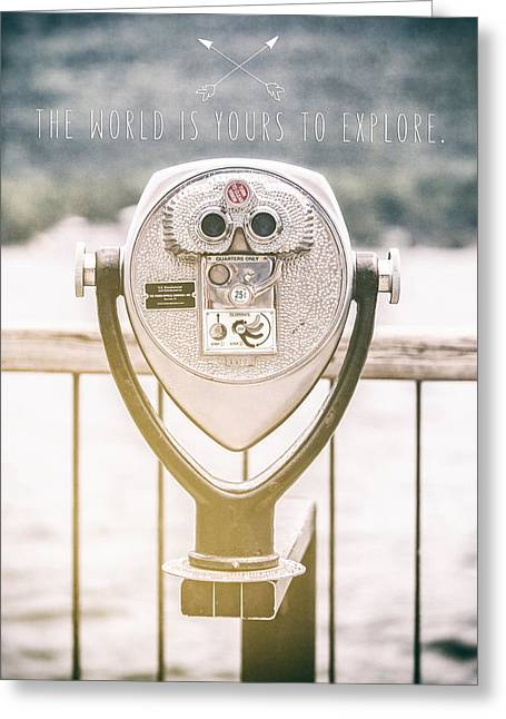 The Lake George Greeting Cards - The World is Yours to Explore Greeting Card by Lisa Russo