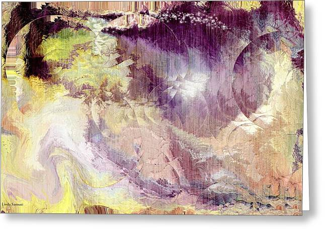 Abstract Expression Greeting Cards - The World of Magic Greeting Card by Linda Sannuti