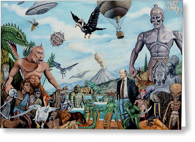 The World Of Ray Harryhausen Greeting Card by Tony Banos