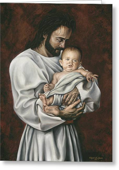 Christ Child Greeting Cards - The Worth of One Soul Greeting Card by Ryan L  Jones