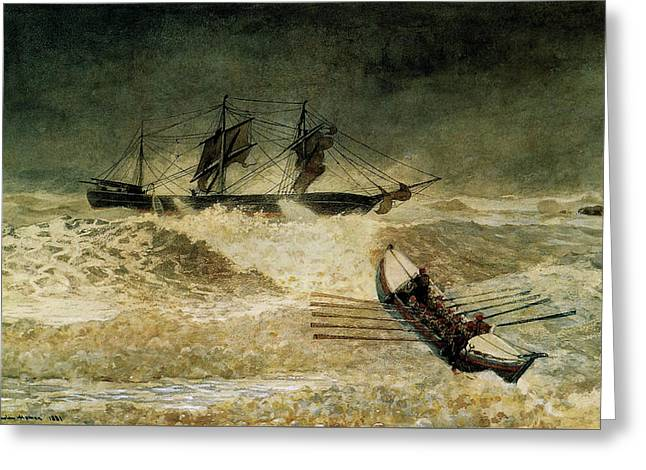 The Wreck Of The Iron Cloud, 1881 Greeting Card by Winslow Homer