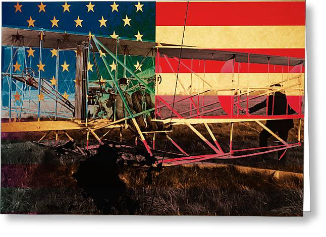 The Wright Bothers an American Original Greeting Card by Wingsdomain Art and Photography