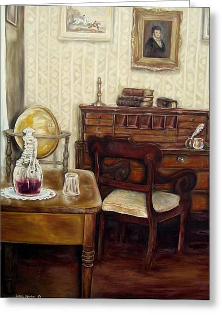 """prayer Room"" Greeting Cards - The Writing Room Greeting Card by Carole Spandau"