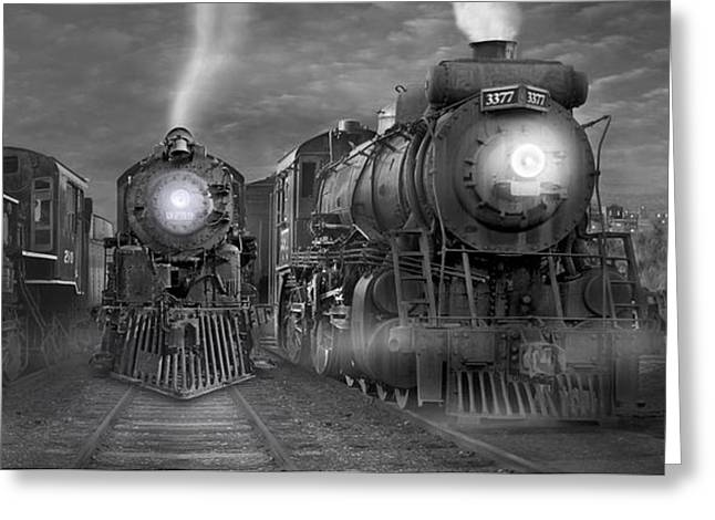 The Yard Panoramic Greeting Card by Mike McGlothlen