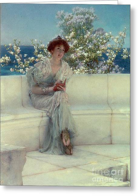 Bracelet Greeting Cards - The Years at the Spring -  Alls Right with the World Greeting Card by Sir Lawrence Alma-Tadema