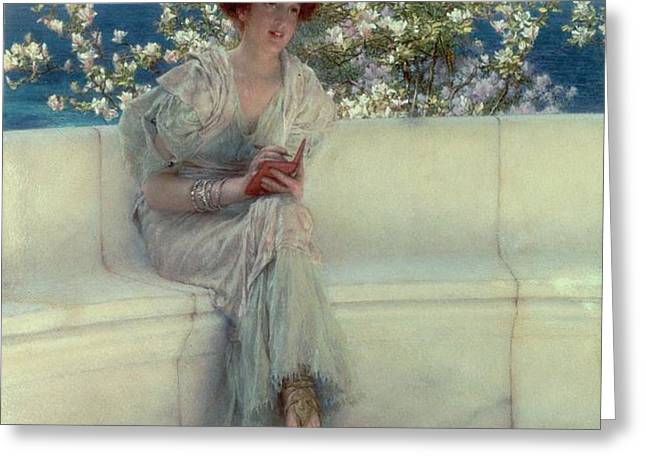 The Year's at the Spring -  All's Right with the World Greeting Card by Sir Lawrence Alma-Tadema