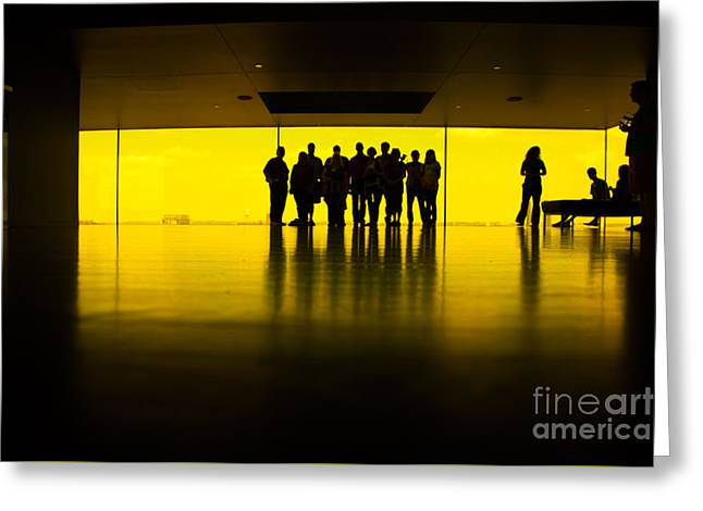 The Yellow Room Guthrie Theater Minneapolis  Greeting Card by Wayne Moran
