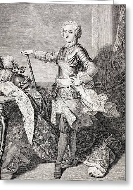 Youthful Greeting Cards - The Young King Louis Xv Of France, 1710 Greeting Card by Vintage Design Pics