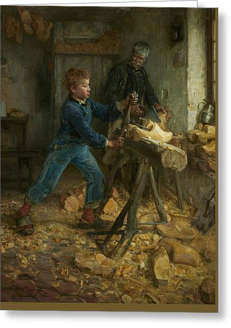 African American Artist Greeting Cards - The Young Sabot Maker Greeting Card by Henry Ossawa Tanner
