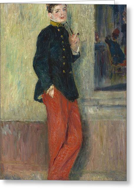 Famous Artist Greeting Cards - The Young Soldier Greeting Card by Auguste Renoir