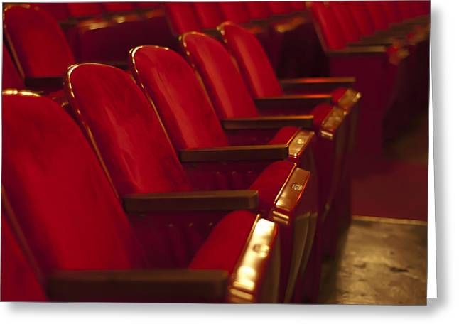 Theater Seating Greeting Card by Carolyn Marshall