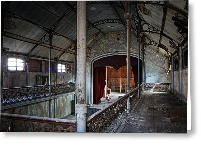 Abandoned Houses Greeting Cards - Theatre Balcony - Urban Decay Greeting Card by Dirk Ercken