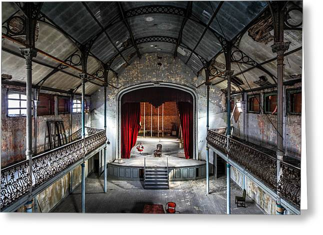 Abandoned Places Greeting Cards - Theatre Scene And Balcony - Urban Decay Greeting Card by Dirk Ercken