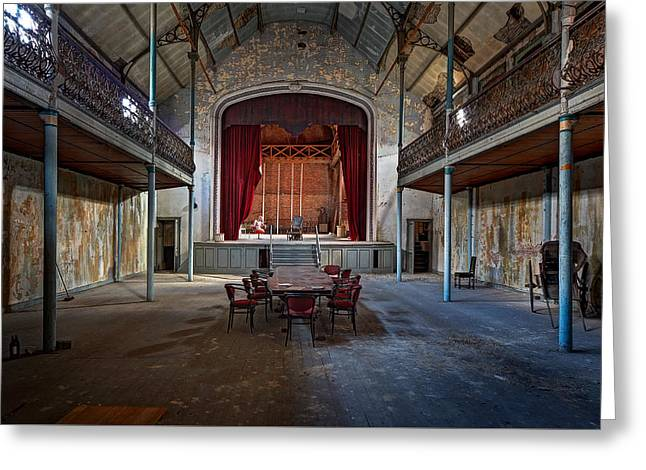 Abandoned House Greeting Cards - Theatre Scene - Urban Decay Greeting Card by Dirk Ercken