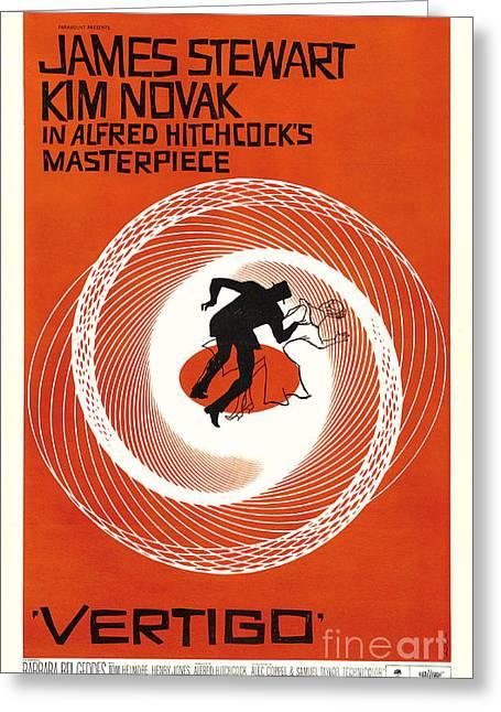 Theatrical Poster Of Vertigo Greeting Card by Celestial Images
