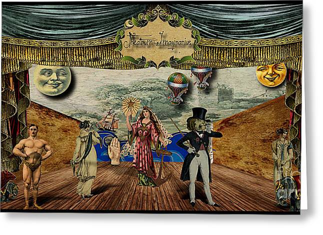Fabled Digital Greeting Cards - Theatrum Imaginarius -Theatre of the Imaginary Greeting Card by Cinema Photography