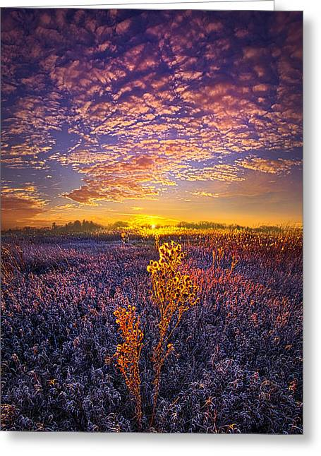Their Voices Raised As One Greeting Card by Phil Koch