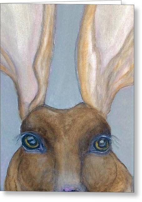 March Hare Greeting Cards - Thelma Greeting Card by Mary Papageorgiou